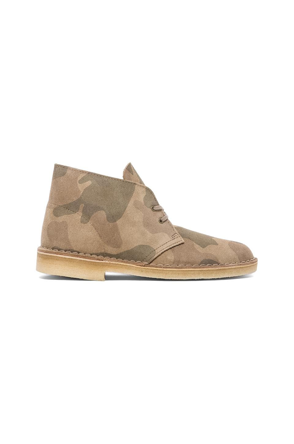 Clarks Originals Desert Boot in Sand Camo Suede