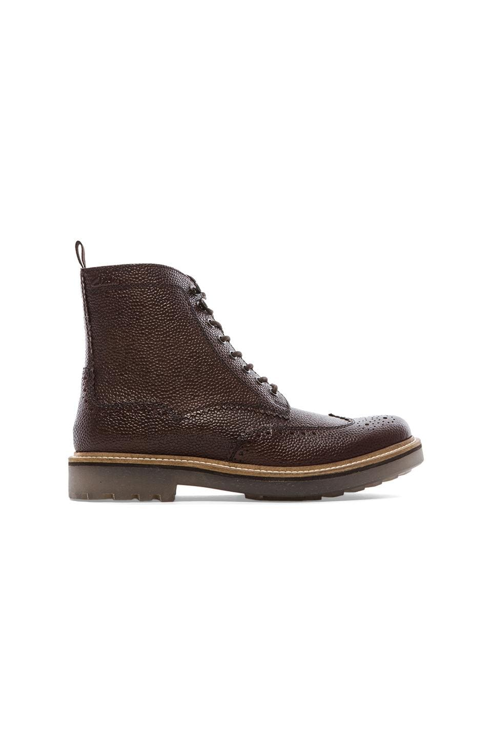 Clarks Monmart Rise in Dark Brown Leather