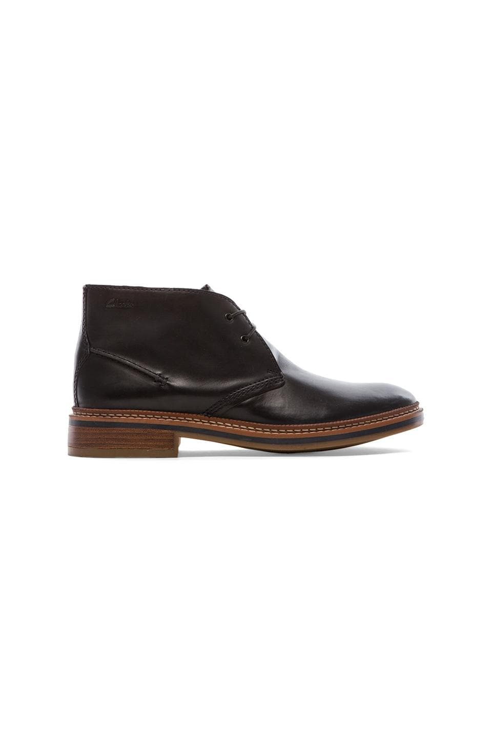 Clarks Grimsby Hi in Black Leather