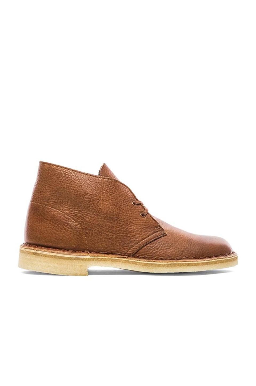 clarks desert boot in tan tumbled leather revolve. Black Bedroom Furniture Sets. Home Design Ideas