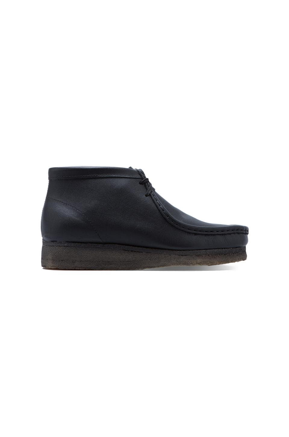 Clarks Originals Wallabee Boot in Black Leather