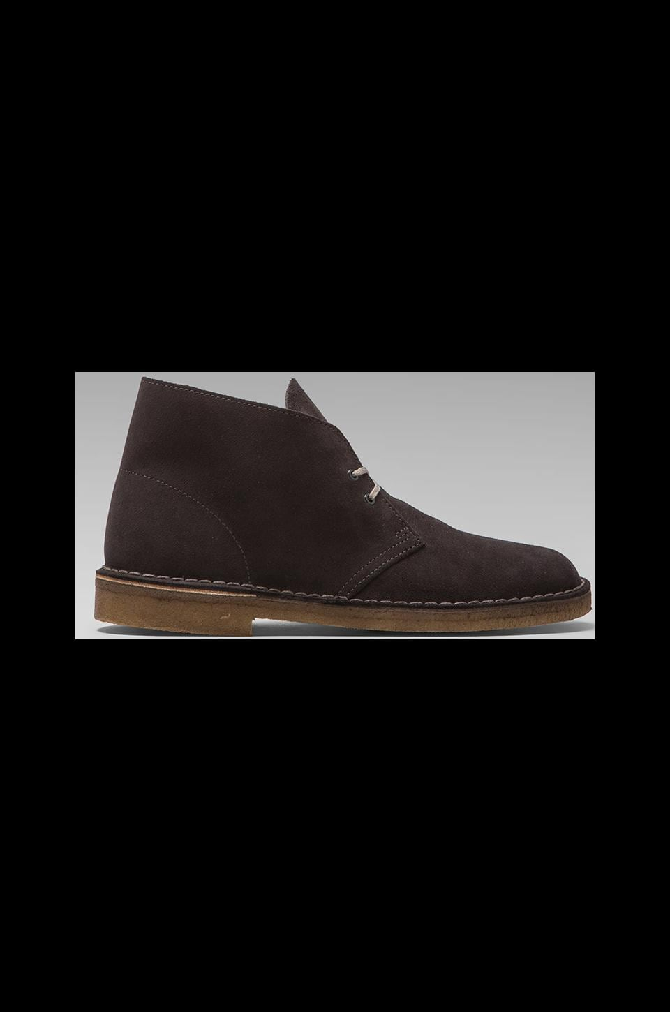 Clarks Originals Desert Boot in Dark Grey Suede