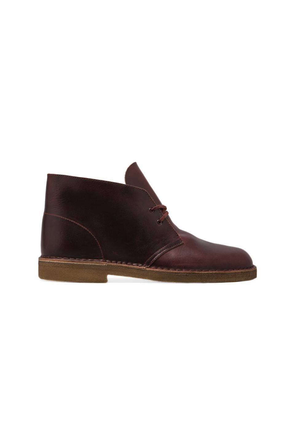 Clarks Originals Desert Boot in Burgundy Horween Leather