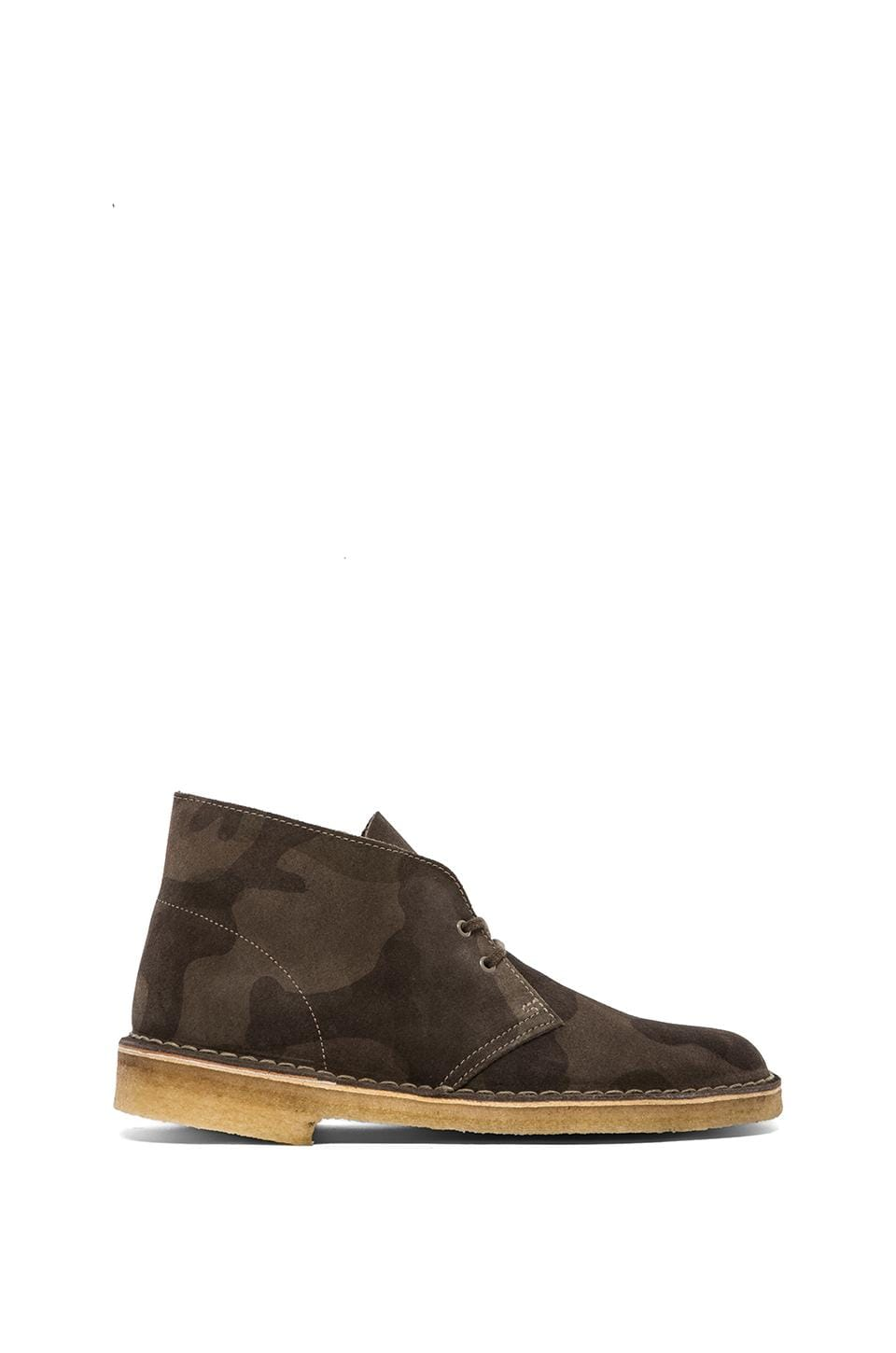 Clarks Originals Desert Boot in Camouflage Green Suede