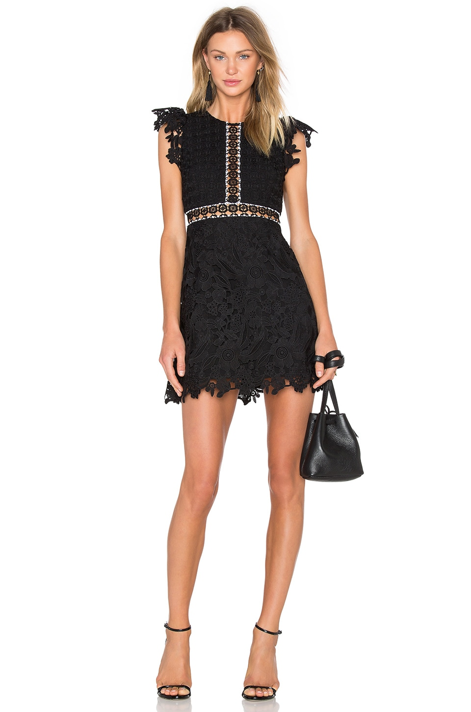 Wild Flower & Geo Lace Mini Dress by Cynthia Rowley