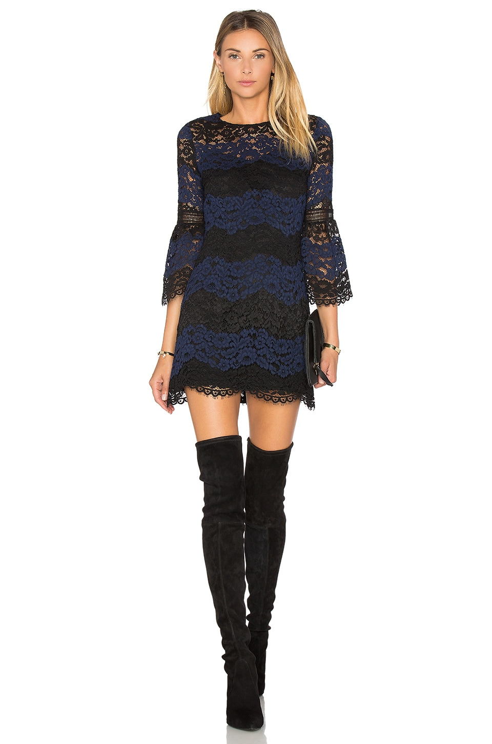 Striped Lace Mini Dress by Cynthia Rowley