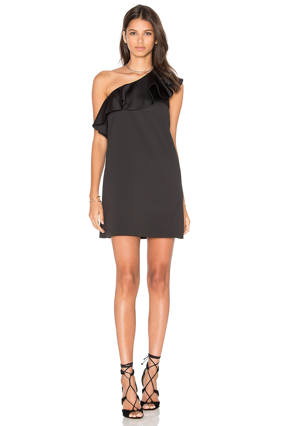 Satin Ruffle Mini Dress by Cynthia Rowley