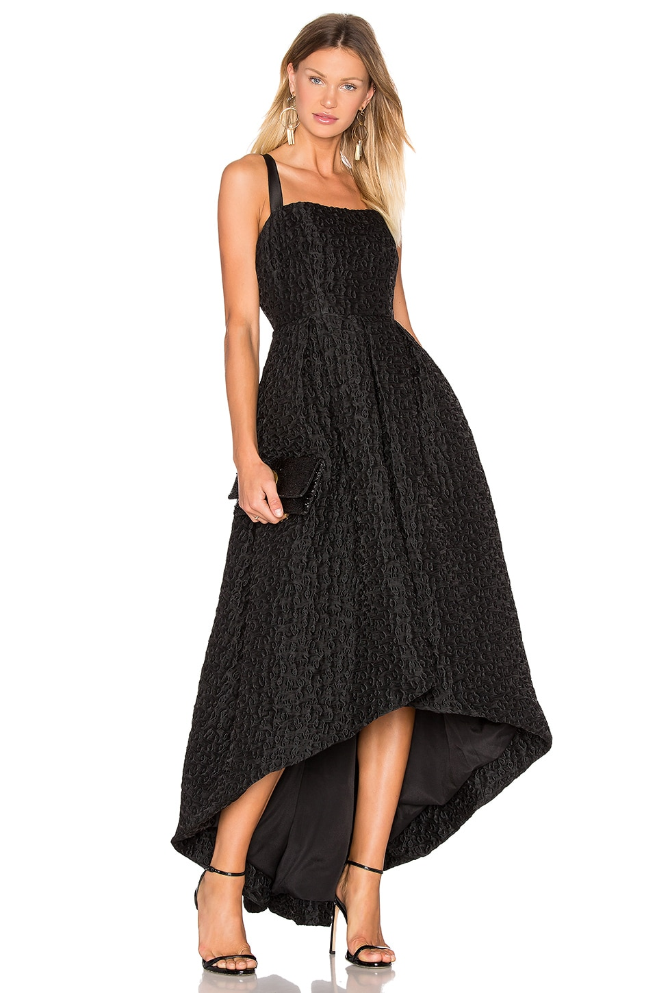 Jacquard High Low Gown by Cynthia Rowley