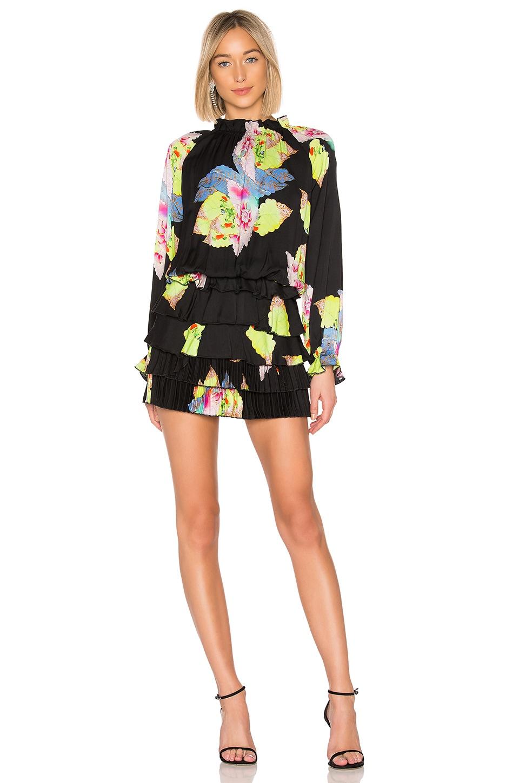 Cynthia Rowley Ruffle Mini Dress in Floral Leaf