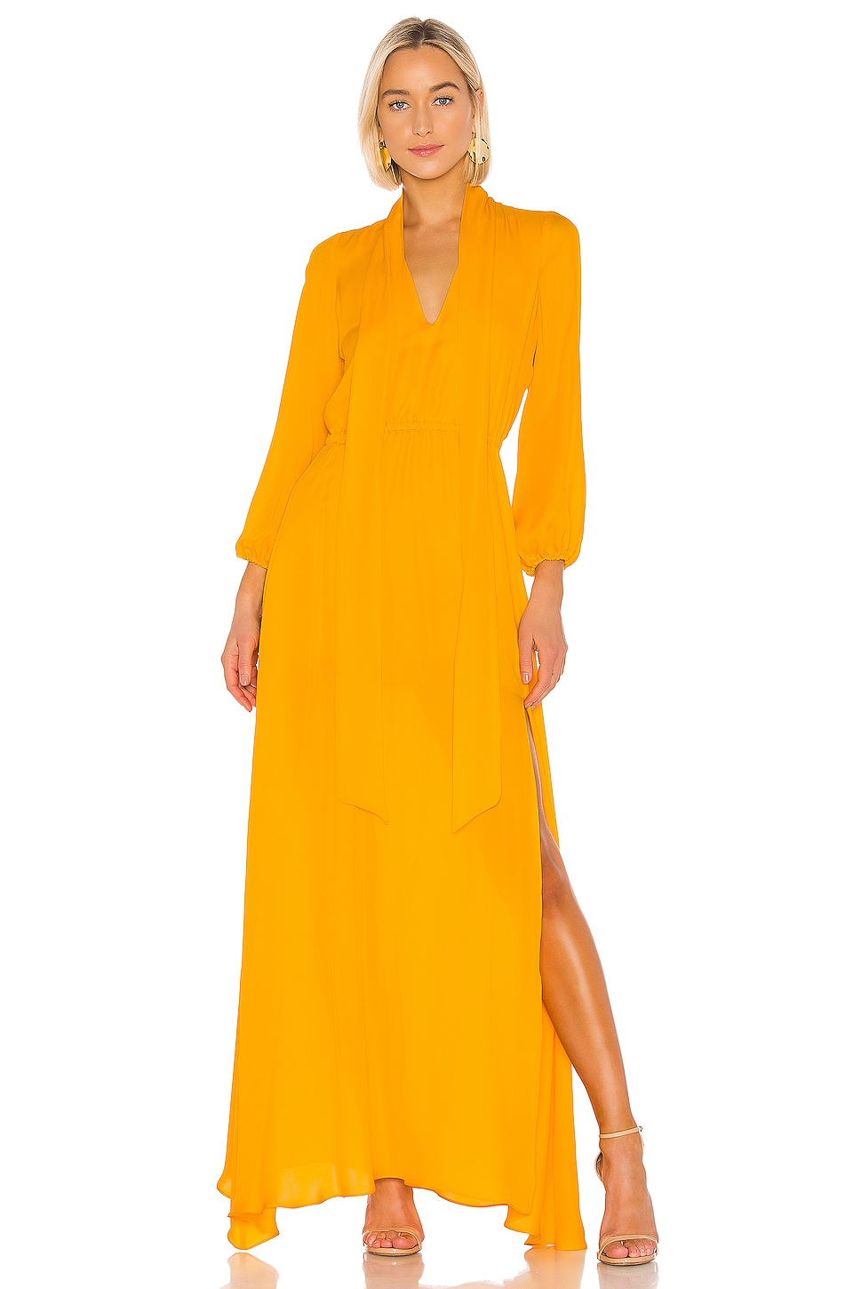 Cynthia Rowley Ella Maxi Dress in Marigold