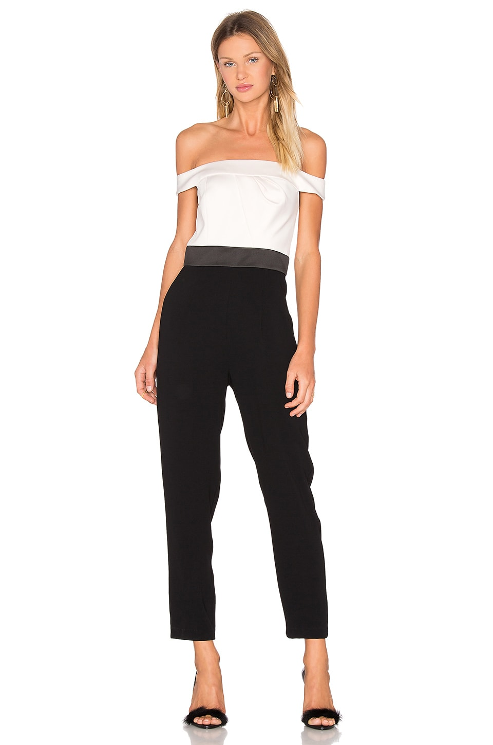 Off The Shoulder Jumpsuit by Cynthia Rowley