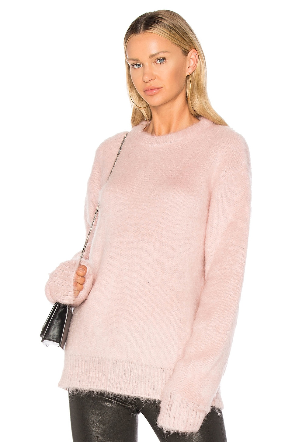 Carven Mohair Sweater in Rose Pale