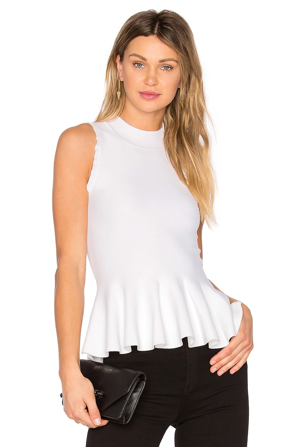 Carven Top in Blanc Optique