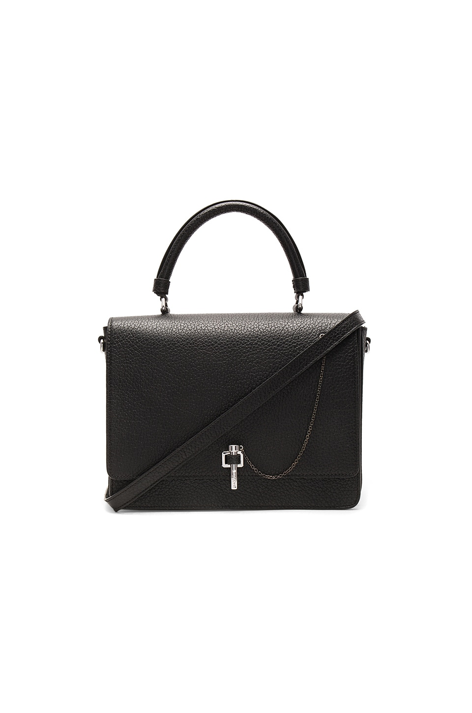 CARVEN Paris Leather Shoulder Bag
