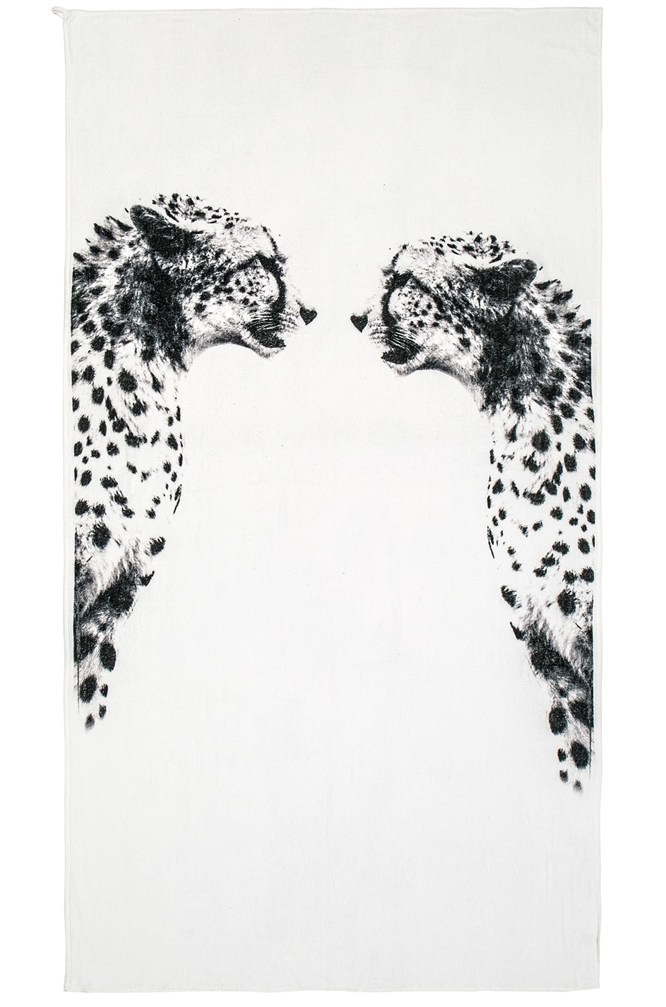 Chaser Cheetah Mirror Beach Towel in White