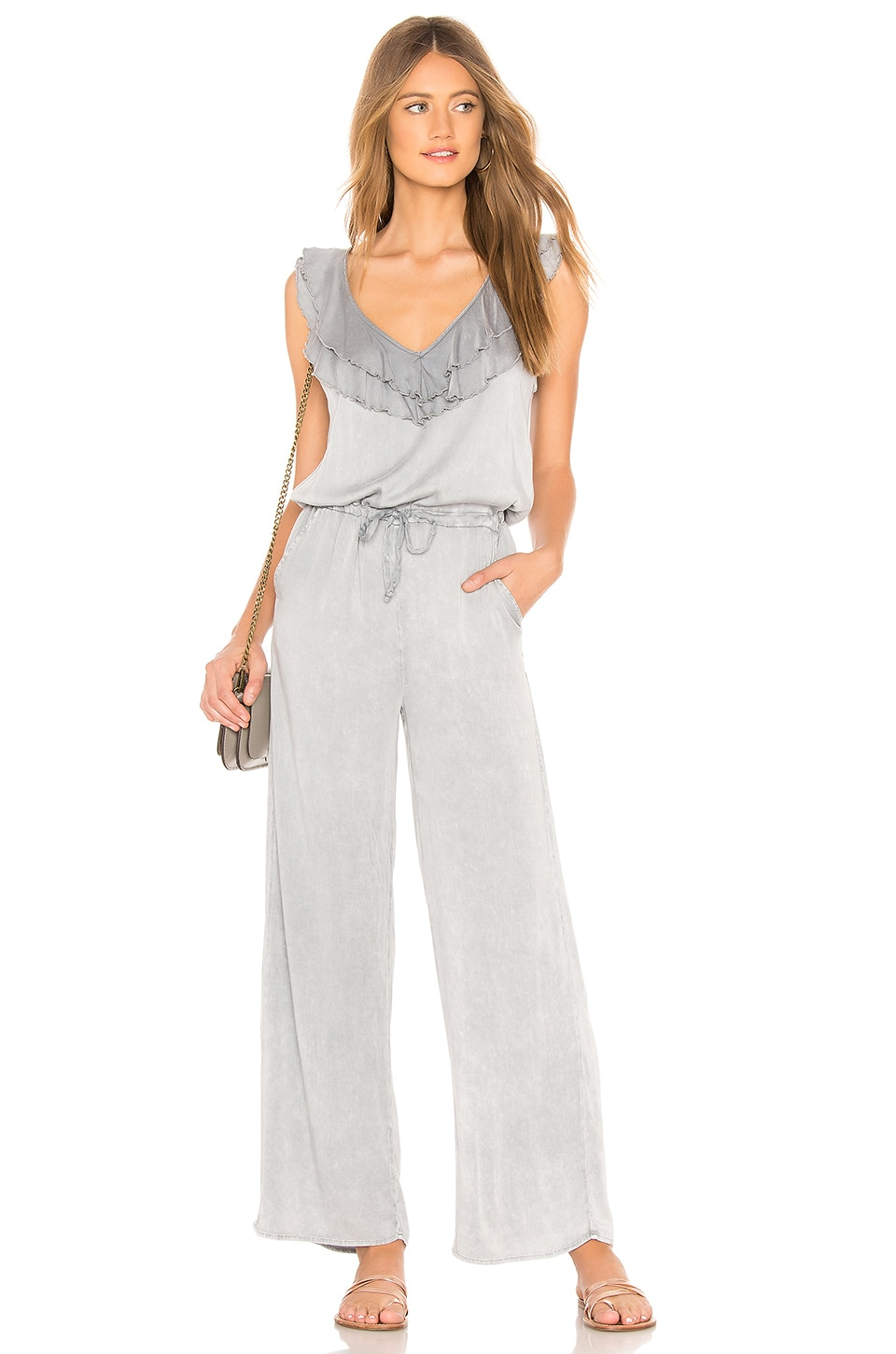 CHASER RUFFLE SLEEVE JUMPSUIT