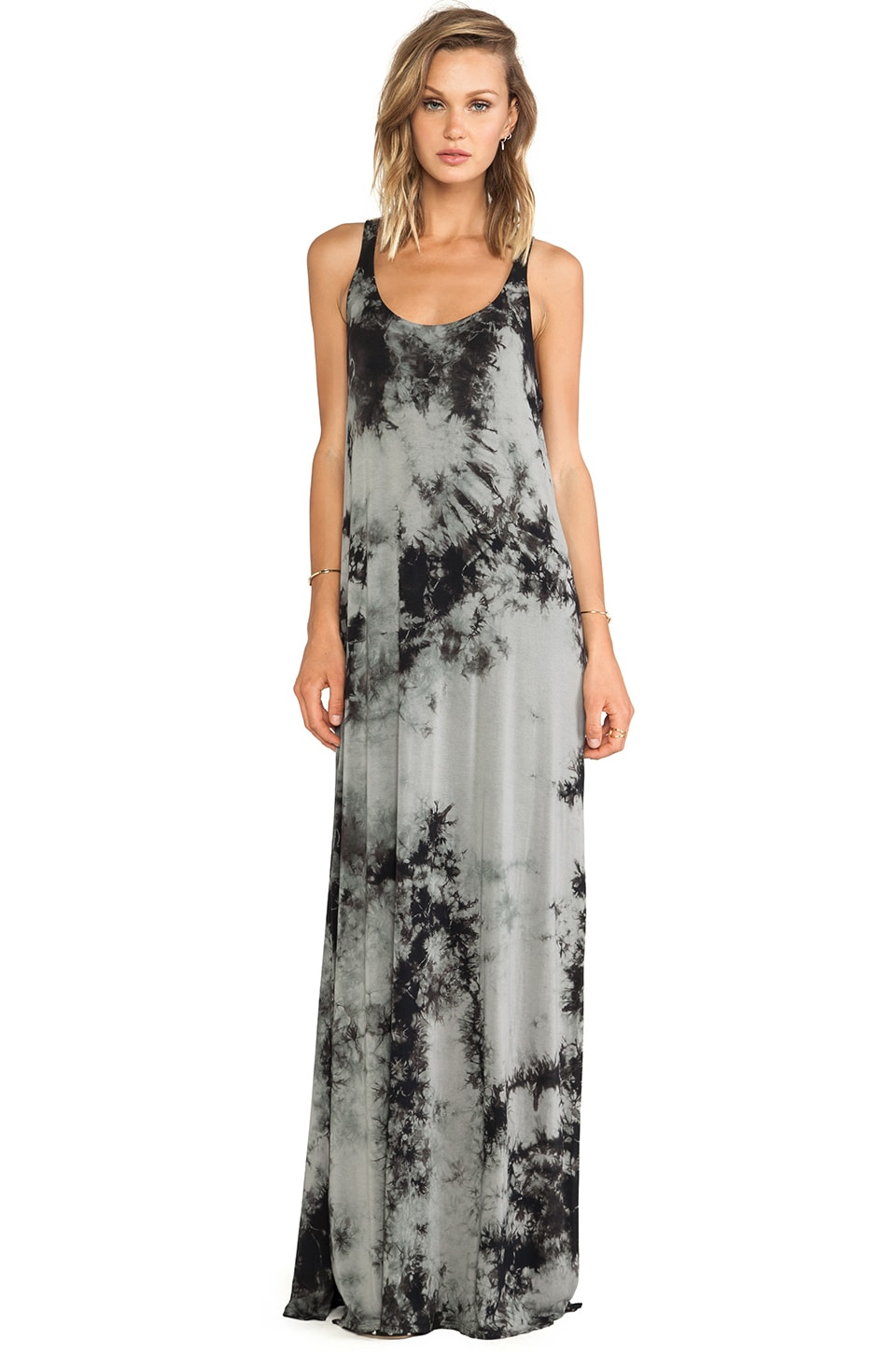 Chaser Summer Festival Maxi Tank Dress in Ink Dot