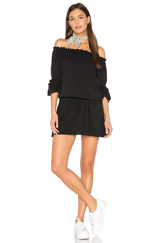 Off Shoulder Shirred Mini Dress by Chaser