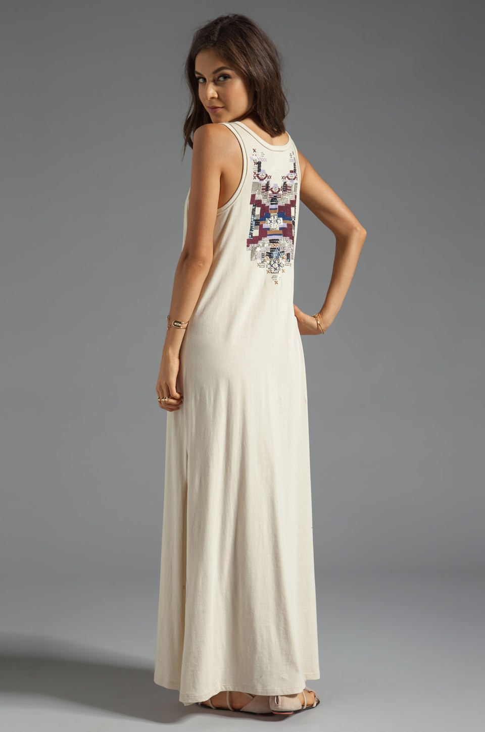 Chaser Embellished Maxi Dress in Muslin