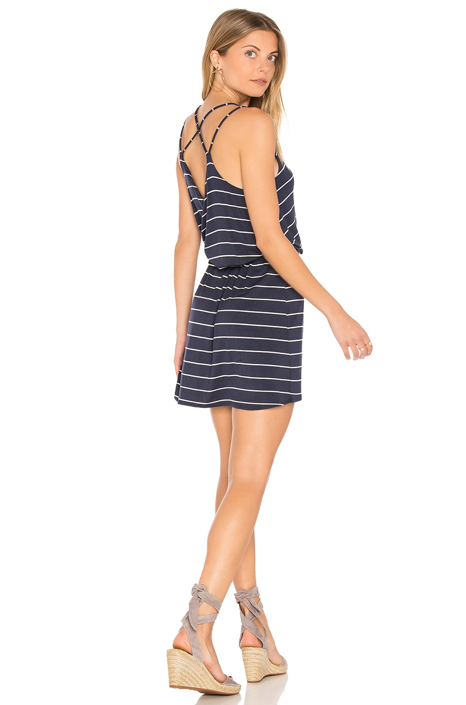 Strappy Cross Back Mini Dress by Chaser
