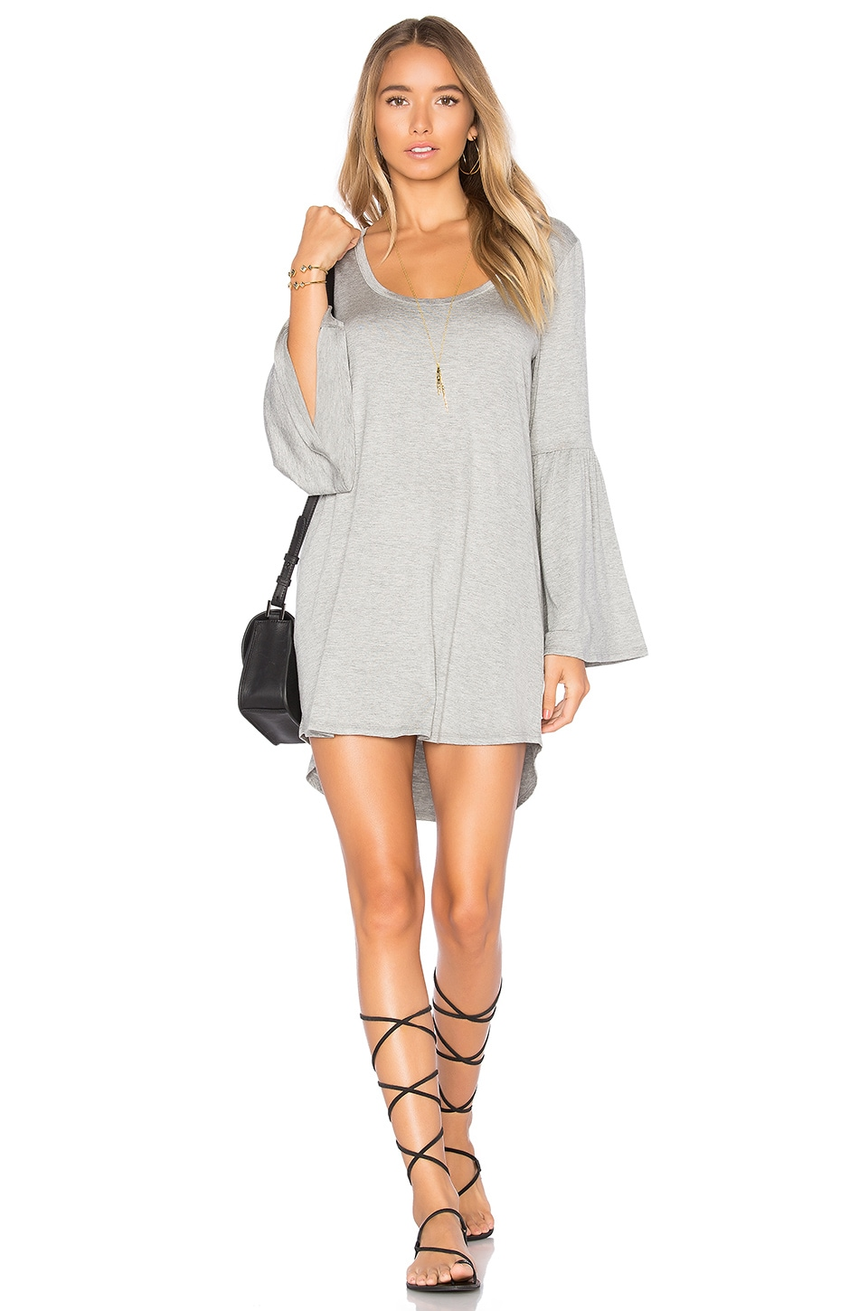Cool Jersey Flared Sleeve Dress by Chaser