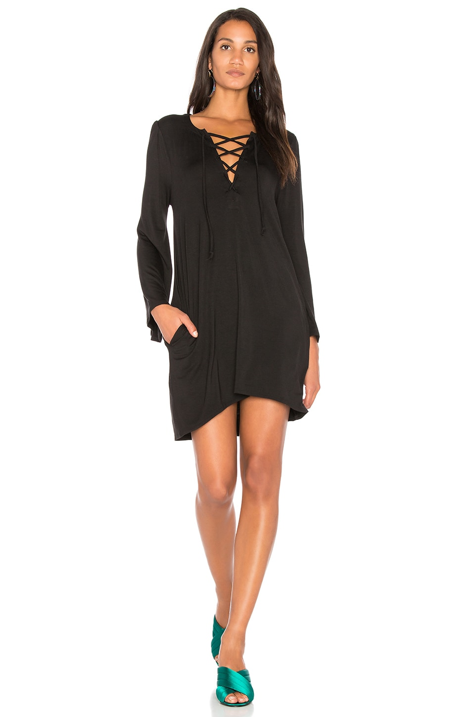 Cool Jersey Lace Up Dress by Chaser