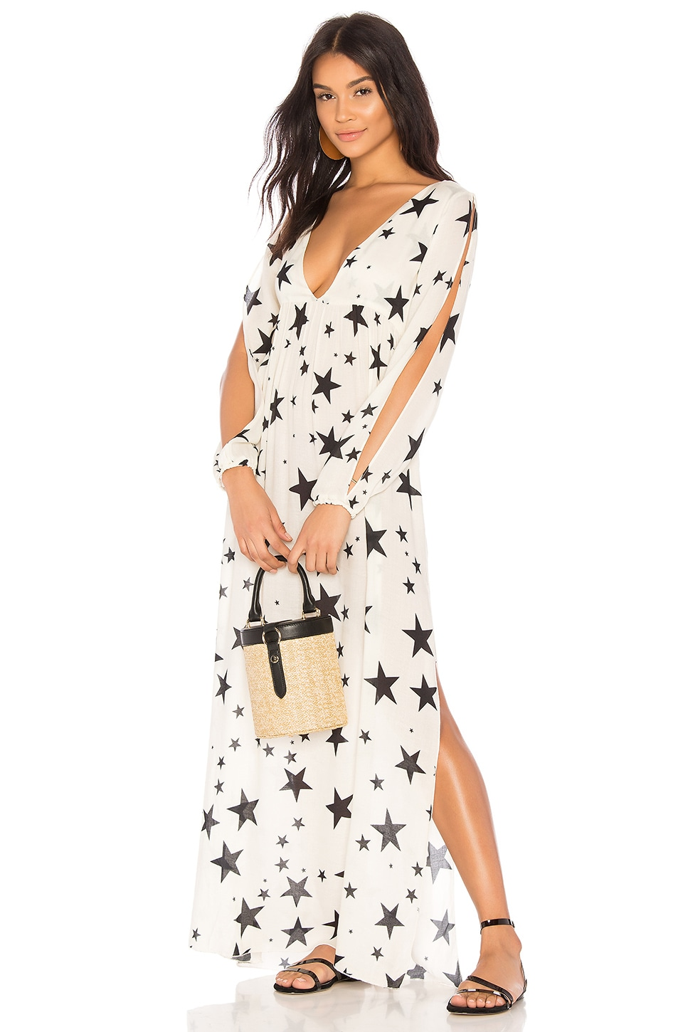 Chaser Starry Maxi Cover Up in White