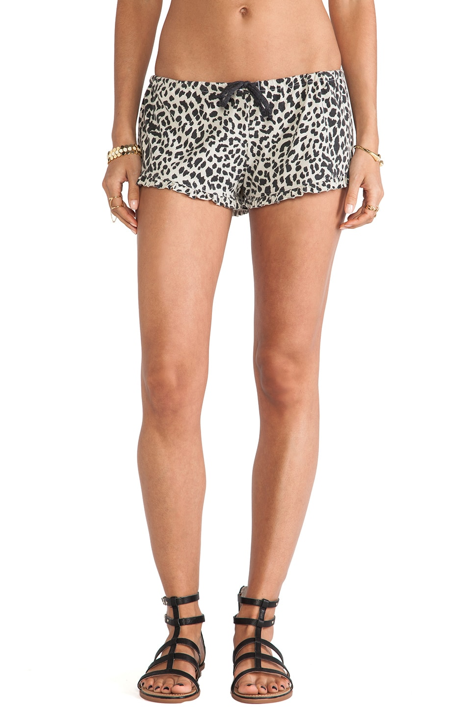 Chaser Ruffle Animal Print Short in Lace