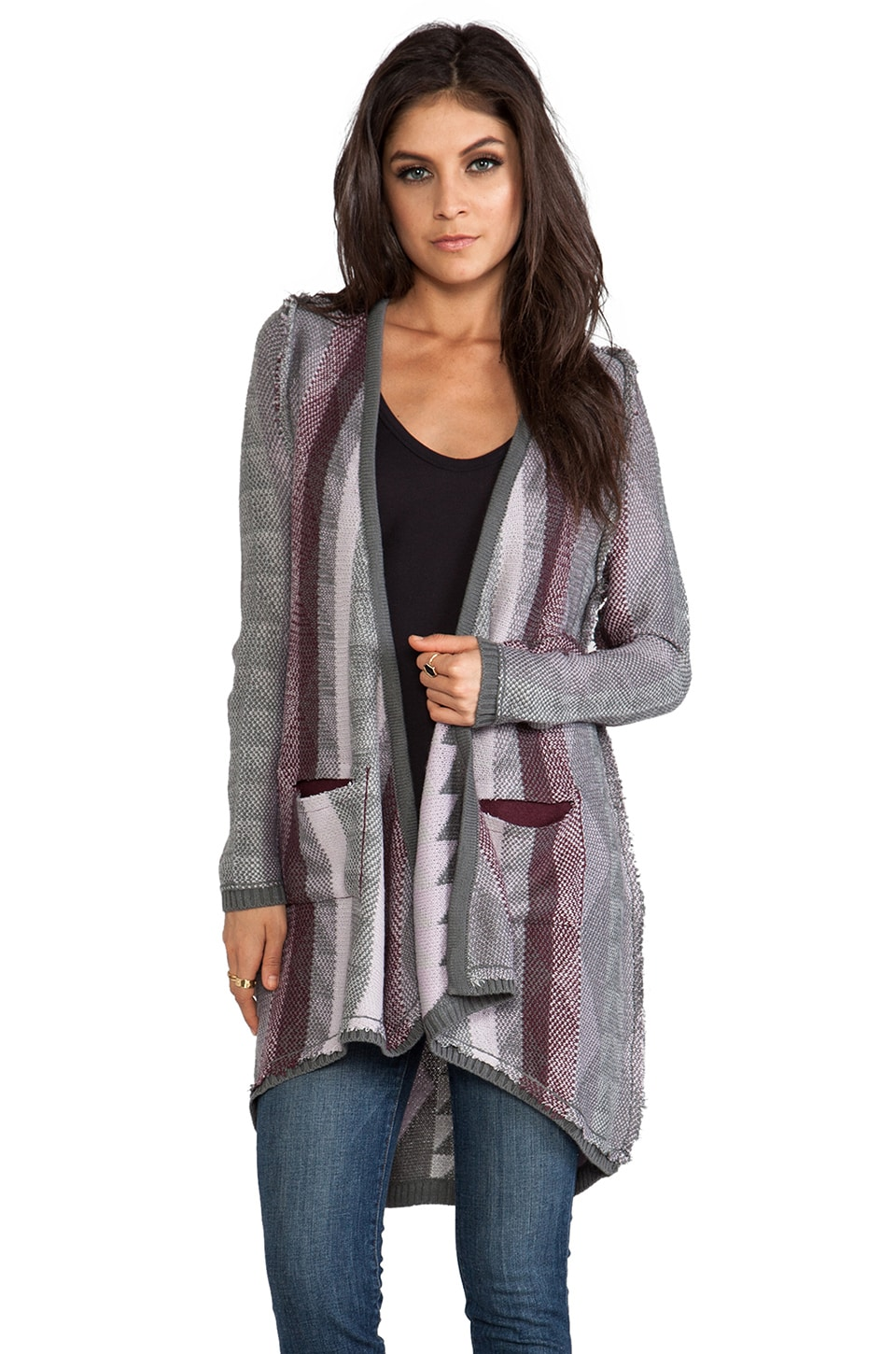 Chaser Open Cardi in Guatamalan Blanket Sweaters