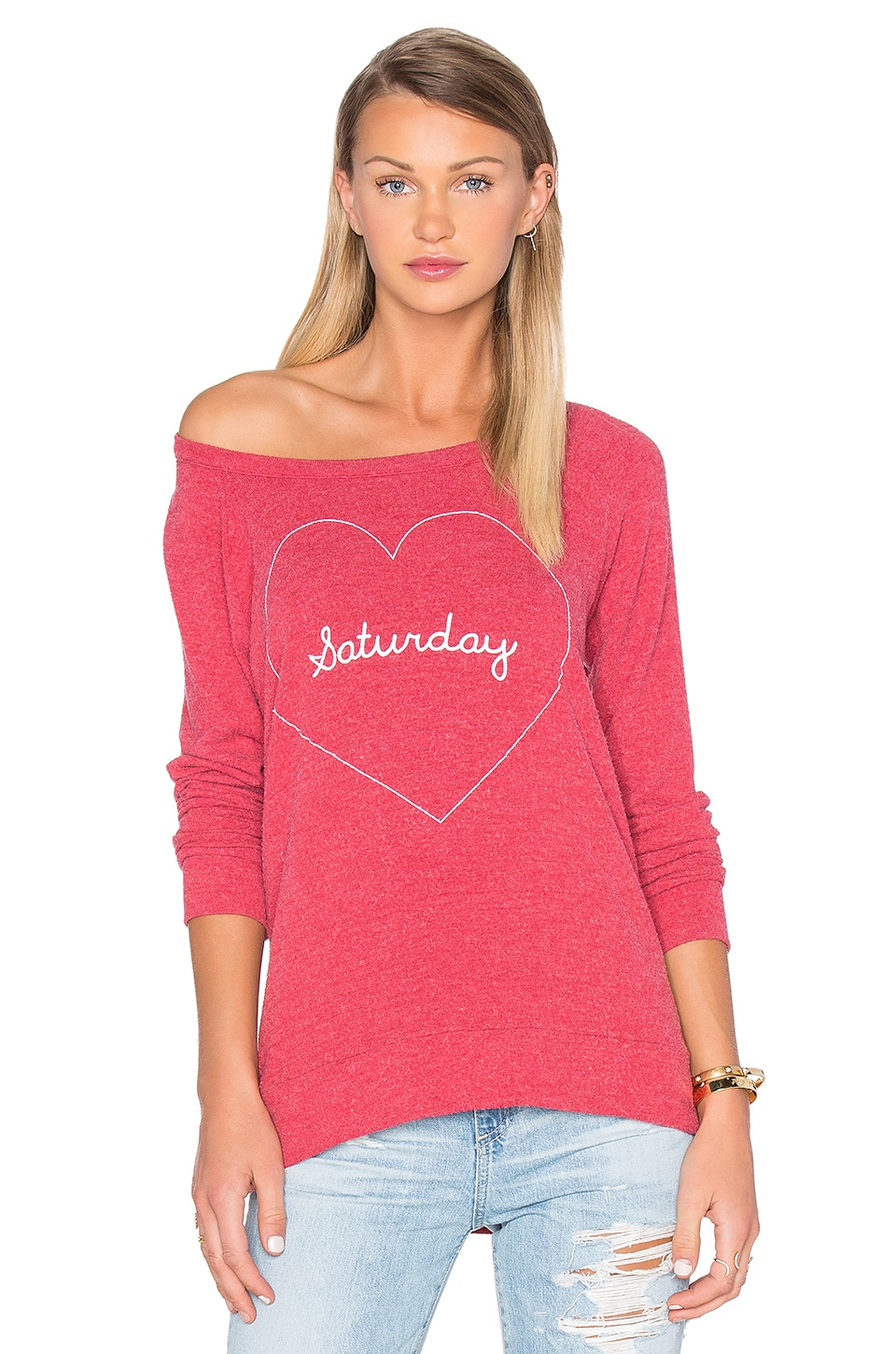 Chaser Saturday Love Sweater in Cardinal