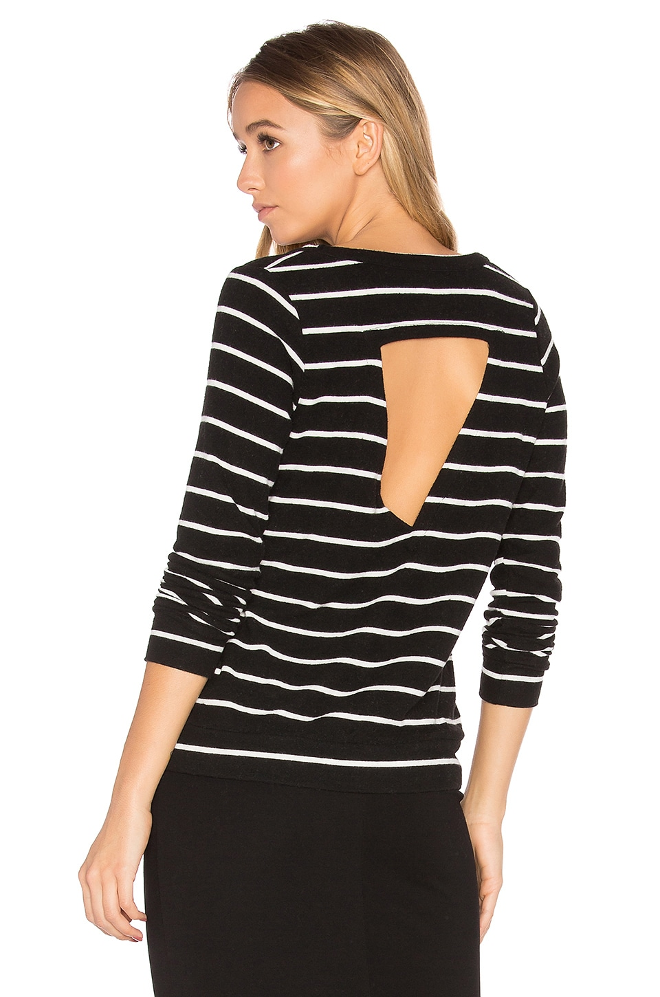 Chaser Triangle Open Back Pullover in Stripe