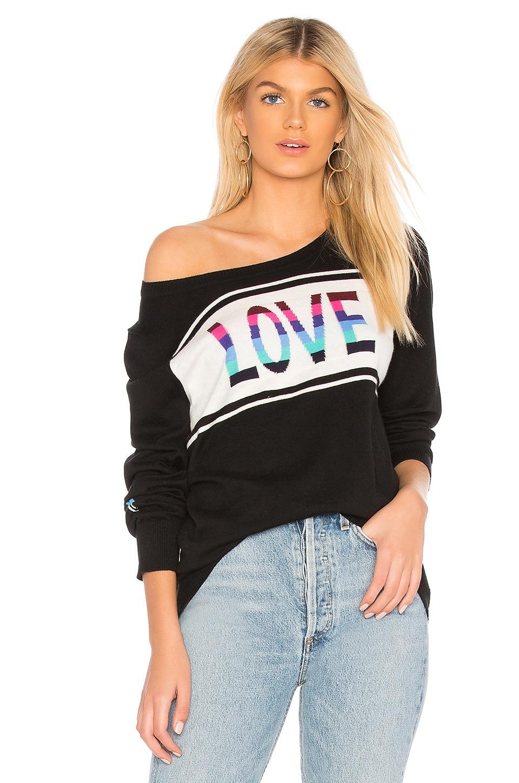 Chaser Love Crew Neck Pullover in True Black