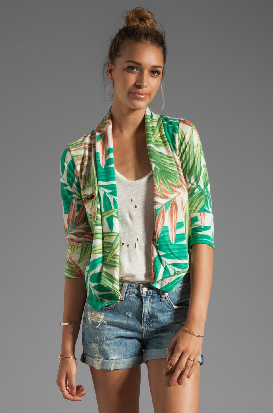 Chaser Fleece Printed Blazer in Tropical