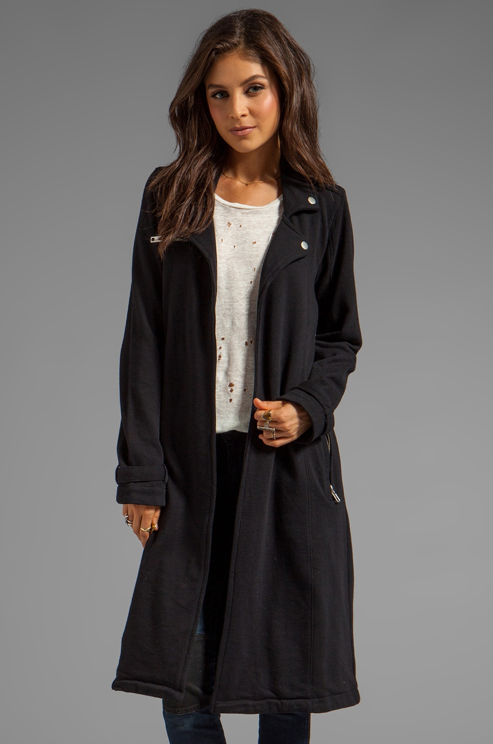 Chaser Fleece Coat in Black
