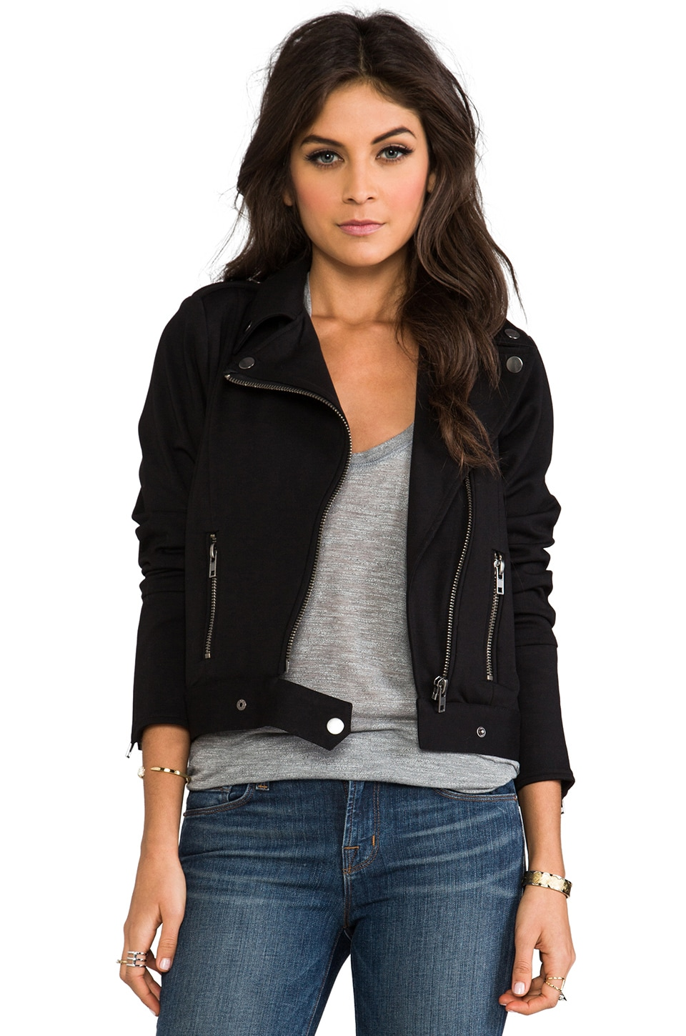 Chaser Ponte Di Roma Moto Jacket in Black