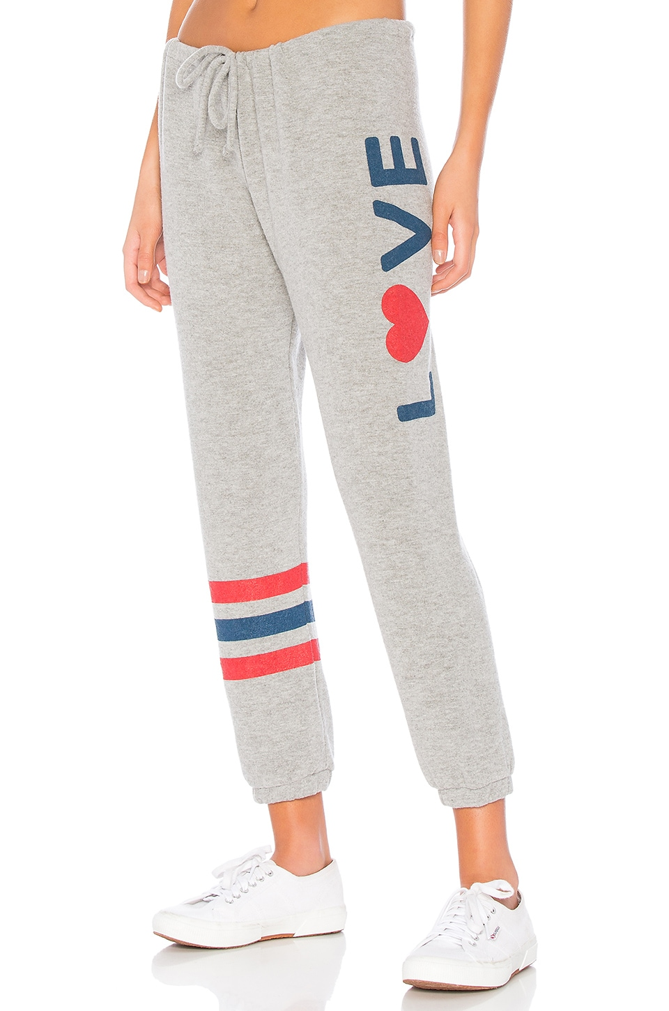 Chaser Love Drawstring Pant in Heather Grey