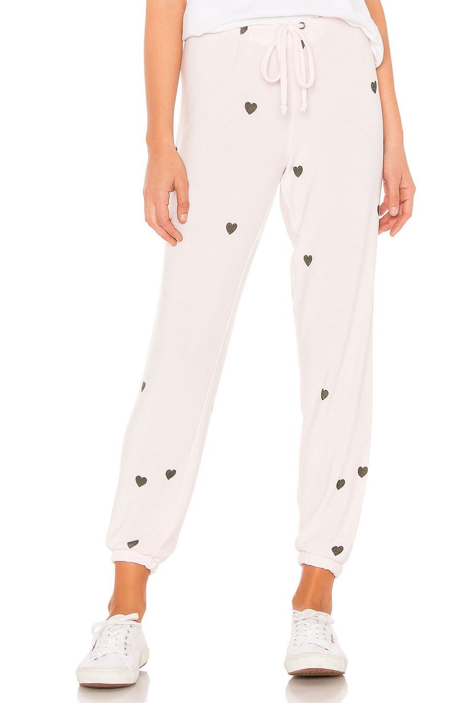 Chaser Tiny Hearts Sweatpant in Pearl