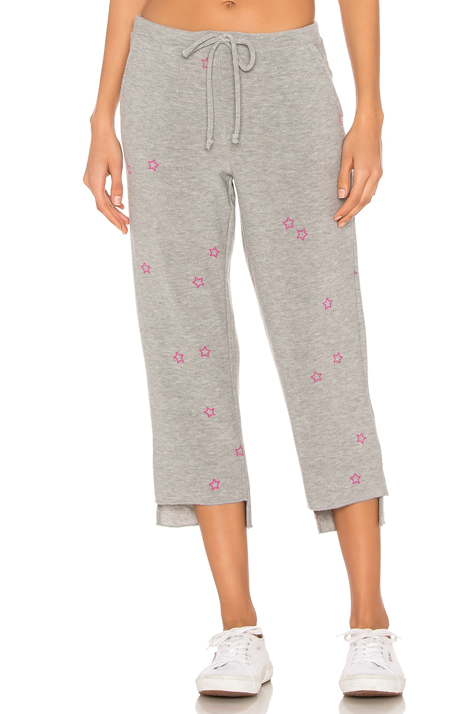 Chaser Pink Stars Pants in Heather Grey