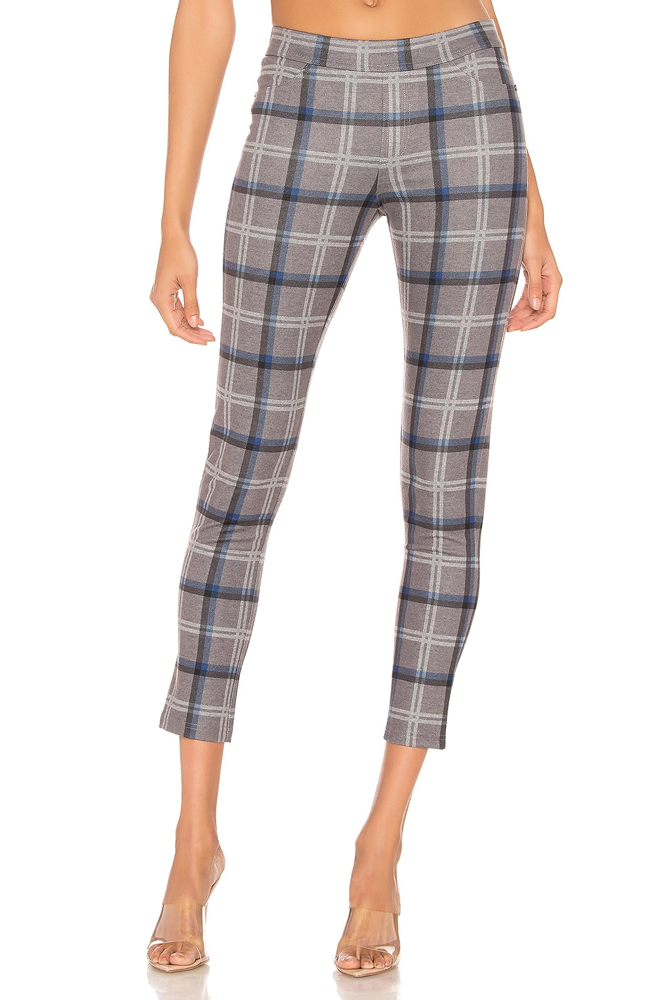 Chaser Skinny Pants in Grey Plaid