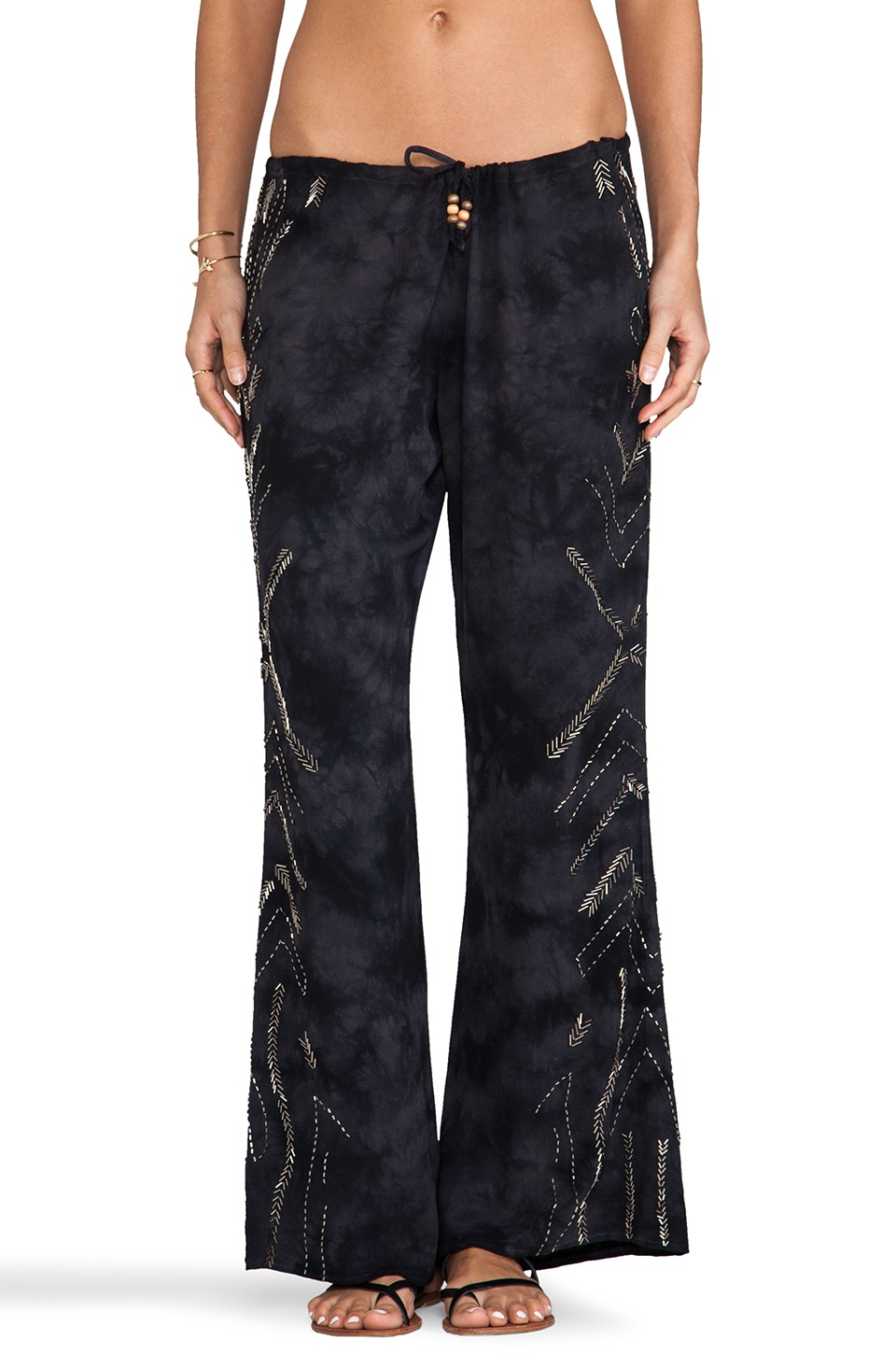 Chaser Beaded Tie Dye Pant in Blue