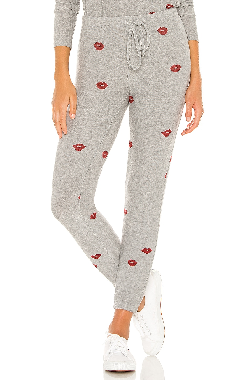 Chaser Lip Toss Pants in Heather Grey