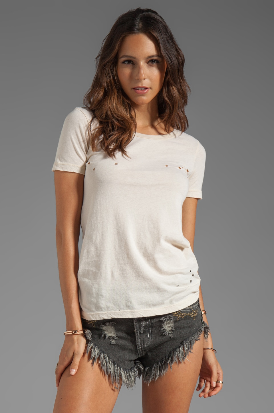 Chaser EXCLUSIVE The Destroyed Tee in Muslin