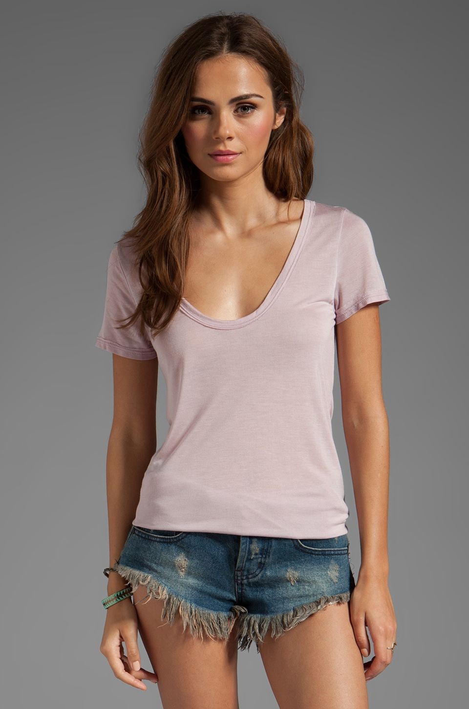 Chaser S/S U Neck Tee in Dirty Rose