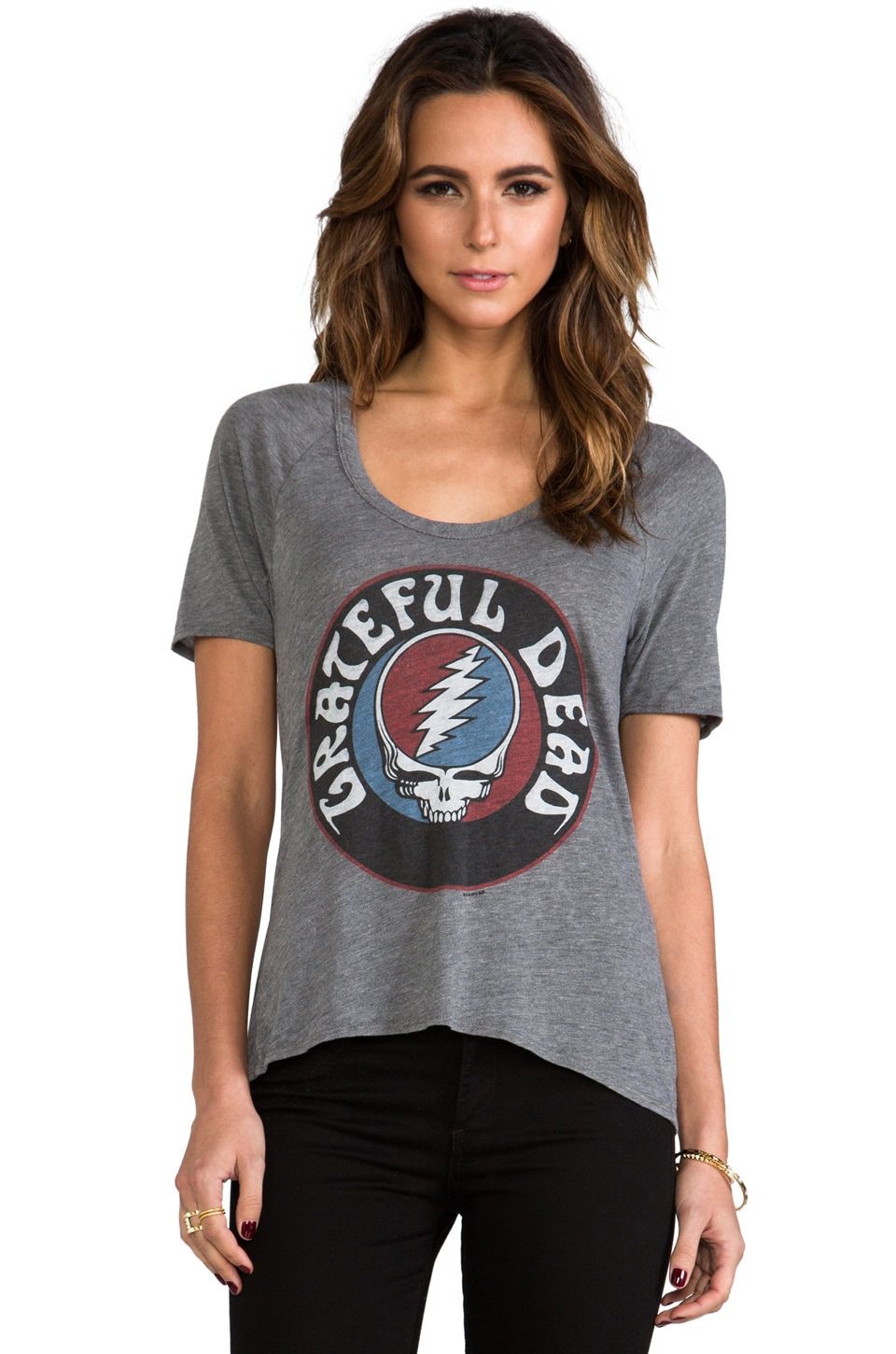 Chaser Steal Your Face Logo Tee in Grey