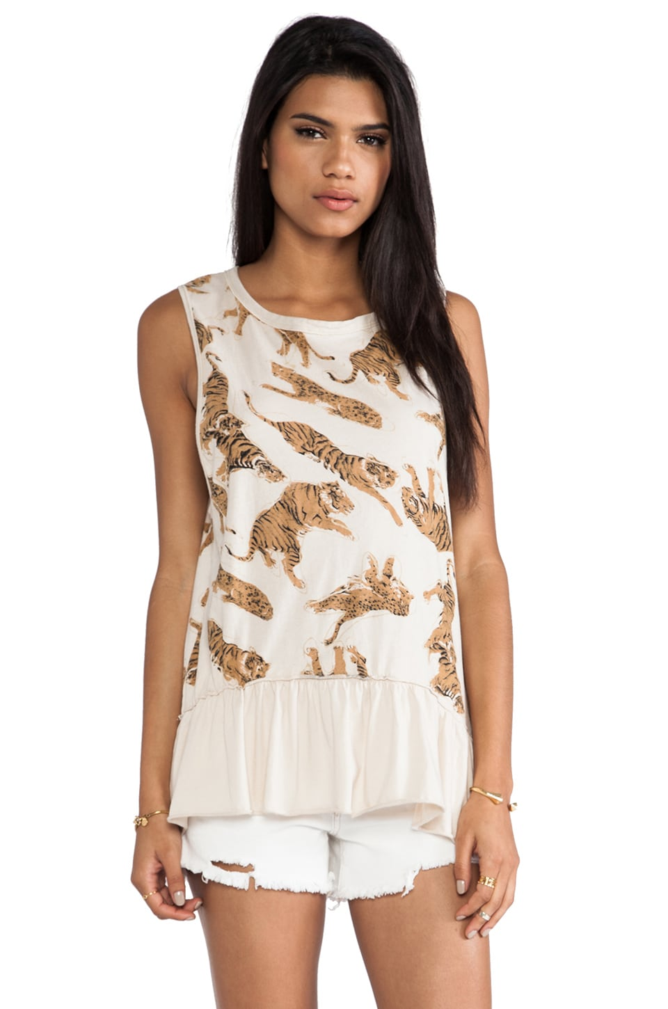 Chaser All Over Tiger Tank in Antique White