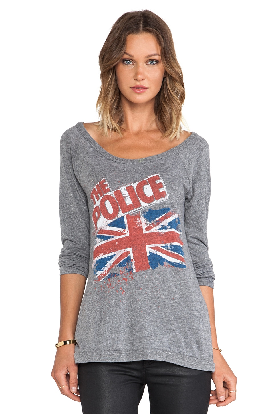 Chaser British Flag Tee in Grey