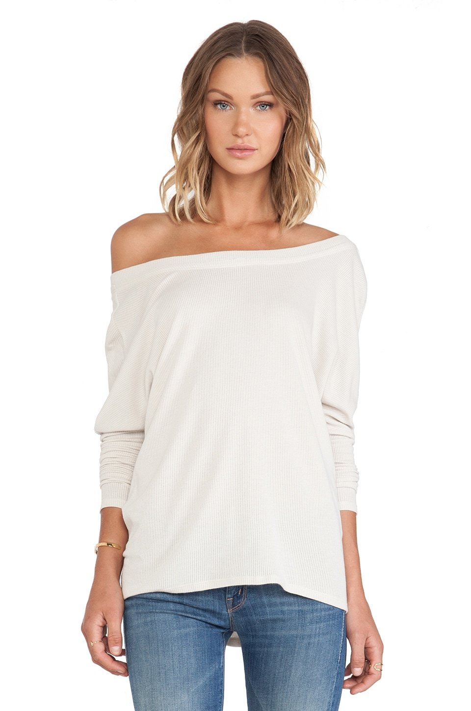 Chaser Long Sleeve Dolman in Ecru