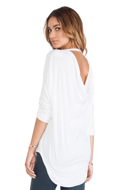 Chaser Vintage Jersey Drape Back Dolman in White