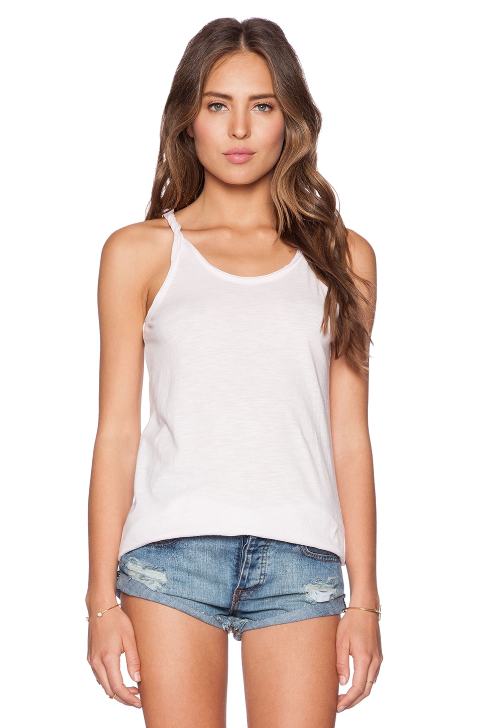 Chaser Twisted Strap Tank in Opal