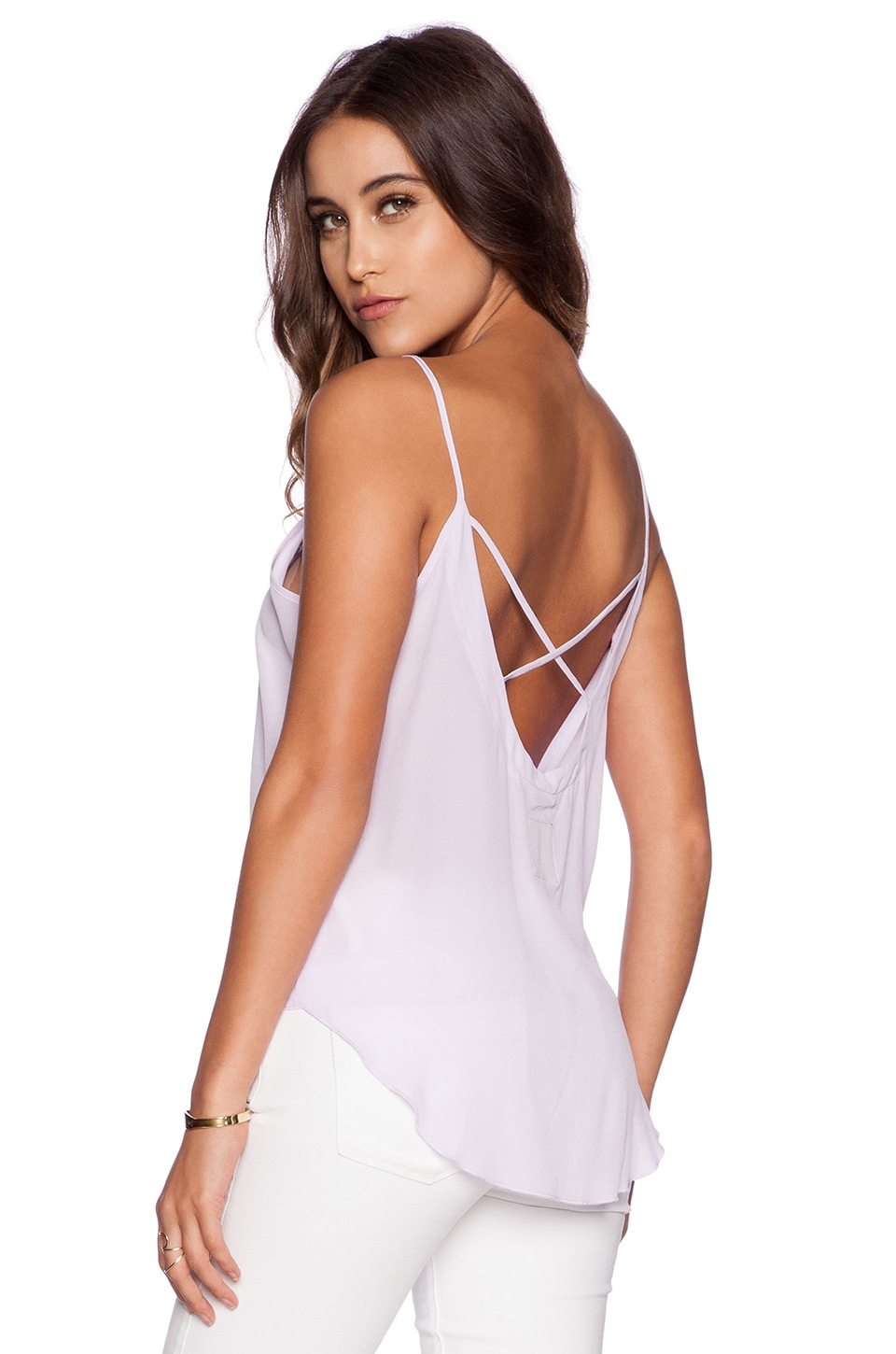 Chaser Criss Cross Back Tank in Posy